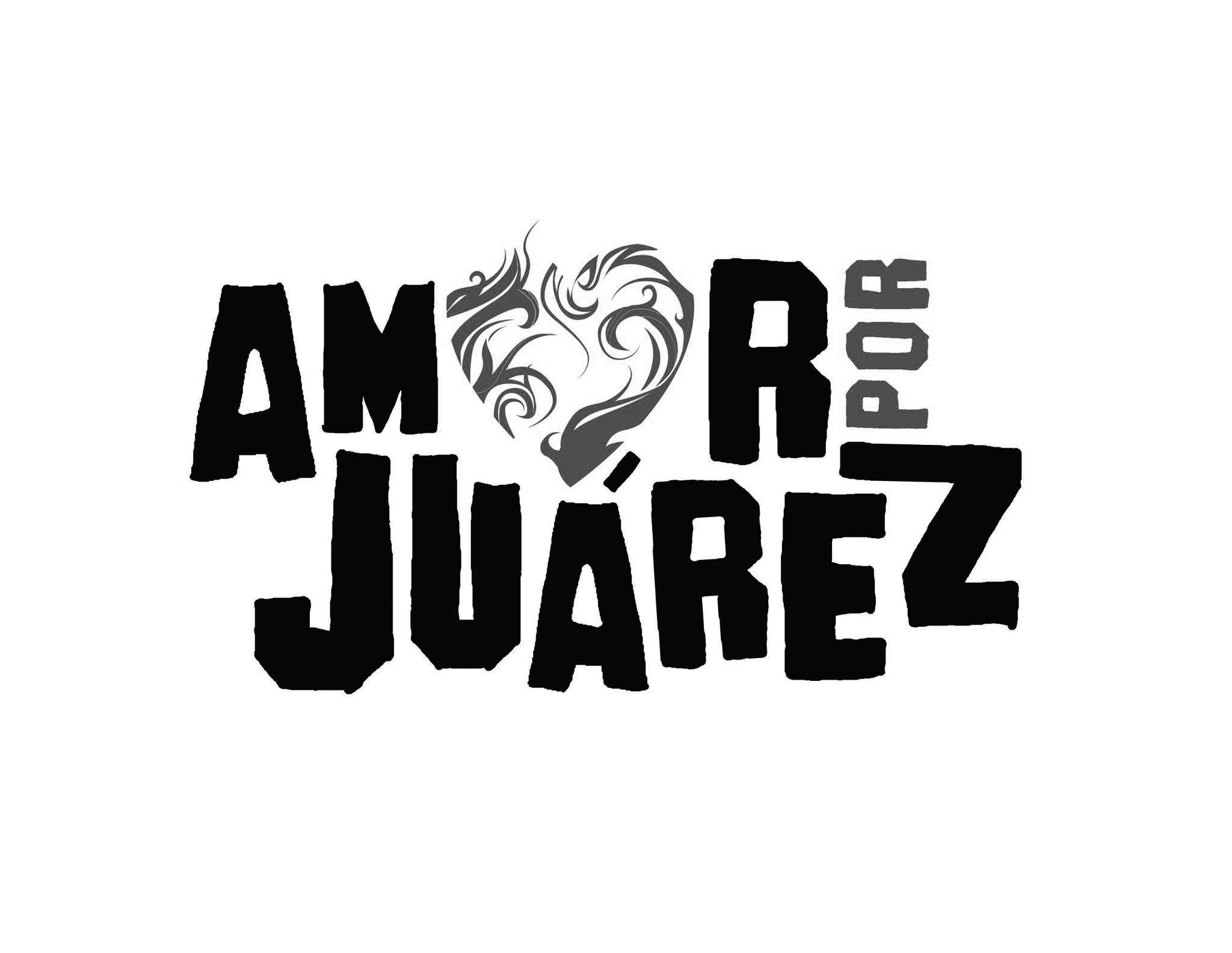 Amor Por Juarez Logo Black and White